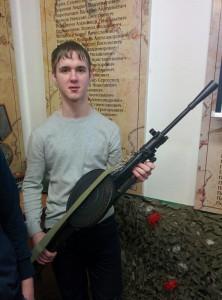 Харитоненко Евгений с пулемётом